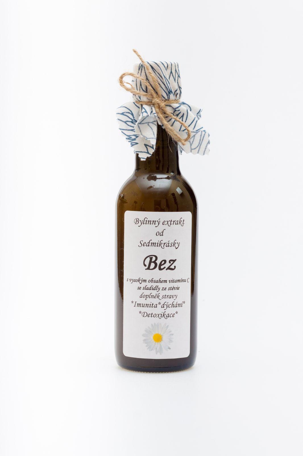 Ekstrakt ziołowy Bez 250ml Odporność, oddychanie, detoksykacja Rodinná farma Sedmikráska