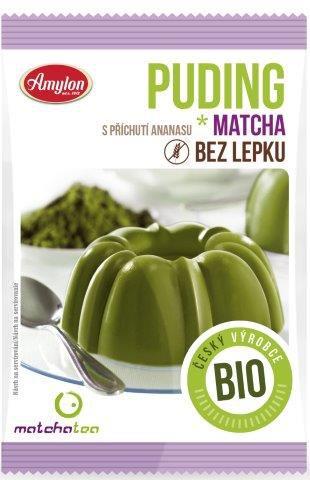 BIO pudding z herbatą Matcha 40g Amylon