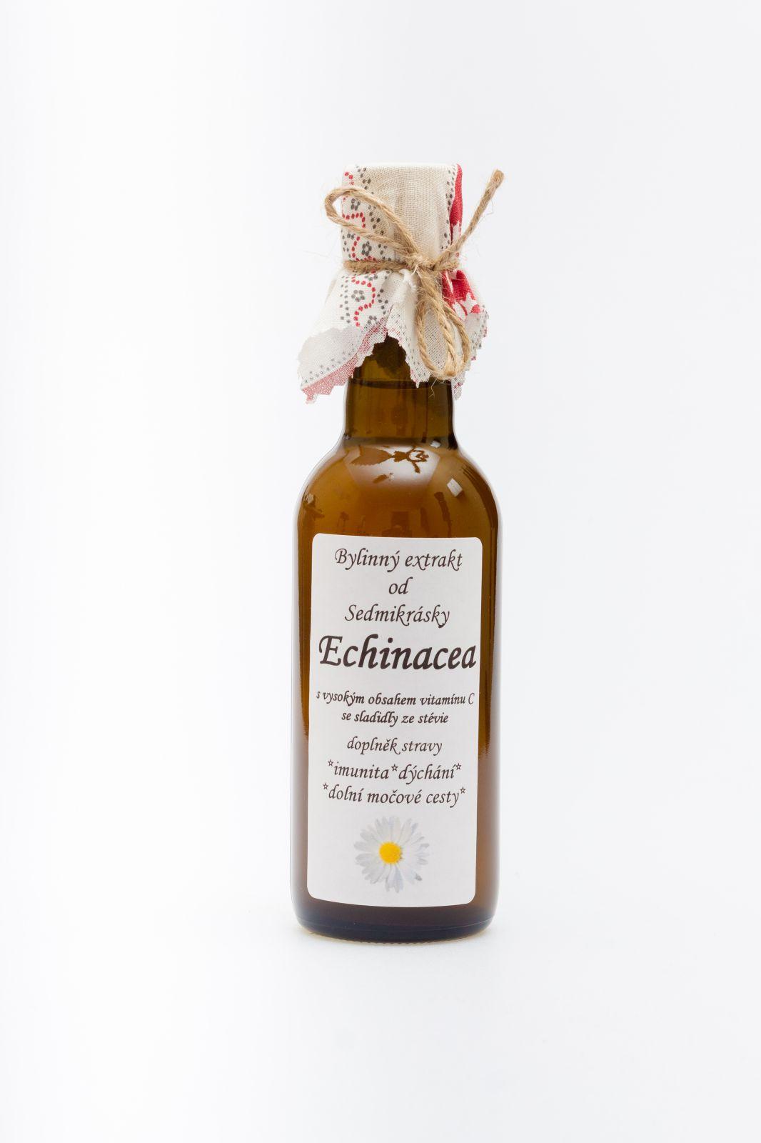 Ekstrakt ziołowy Echinacea 250ml munita, dýchání a močové cesty doplněk stravy Rodinná farma Sedmikráska
