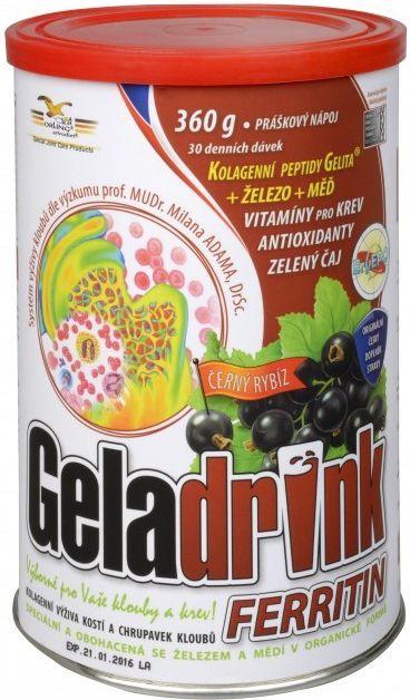 GELADRIN FERRITIN drink - zmęczenie, zwiększone zapotrzebowanie na żelazo ORLING s.r.o. Ústí nad Orlicí