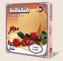Spa wafle BOHEMIA orzechowe są wykonane według tradycyjnej receptury Bohemia speciality s.r.o.