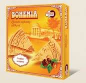 Spa wafle trójkąty BOHEMIA orzechowe są wykonane według tradycyjnej receptury Bohemia speciality s.r.o.