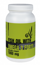 Fish oil with Omega-3 Forte 1000mg 90 kapsułki