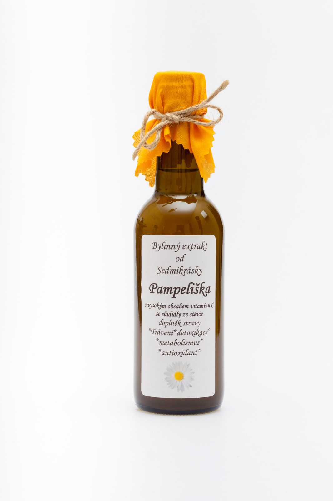 Sedmikráska ekstrakt ziołowy Mniszek lekarski 250ml trávení, energetický metabolismus, detoxikace, antioxidant doplněk stravy Rodinná farma Sedmikráska