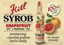 Kitl Syrob grejpfrut z miąższem 500ml vynikající hustý sirup vyrobený z grapefruitové šťávy a grapefruitové dužniny.