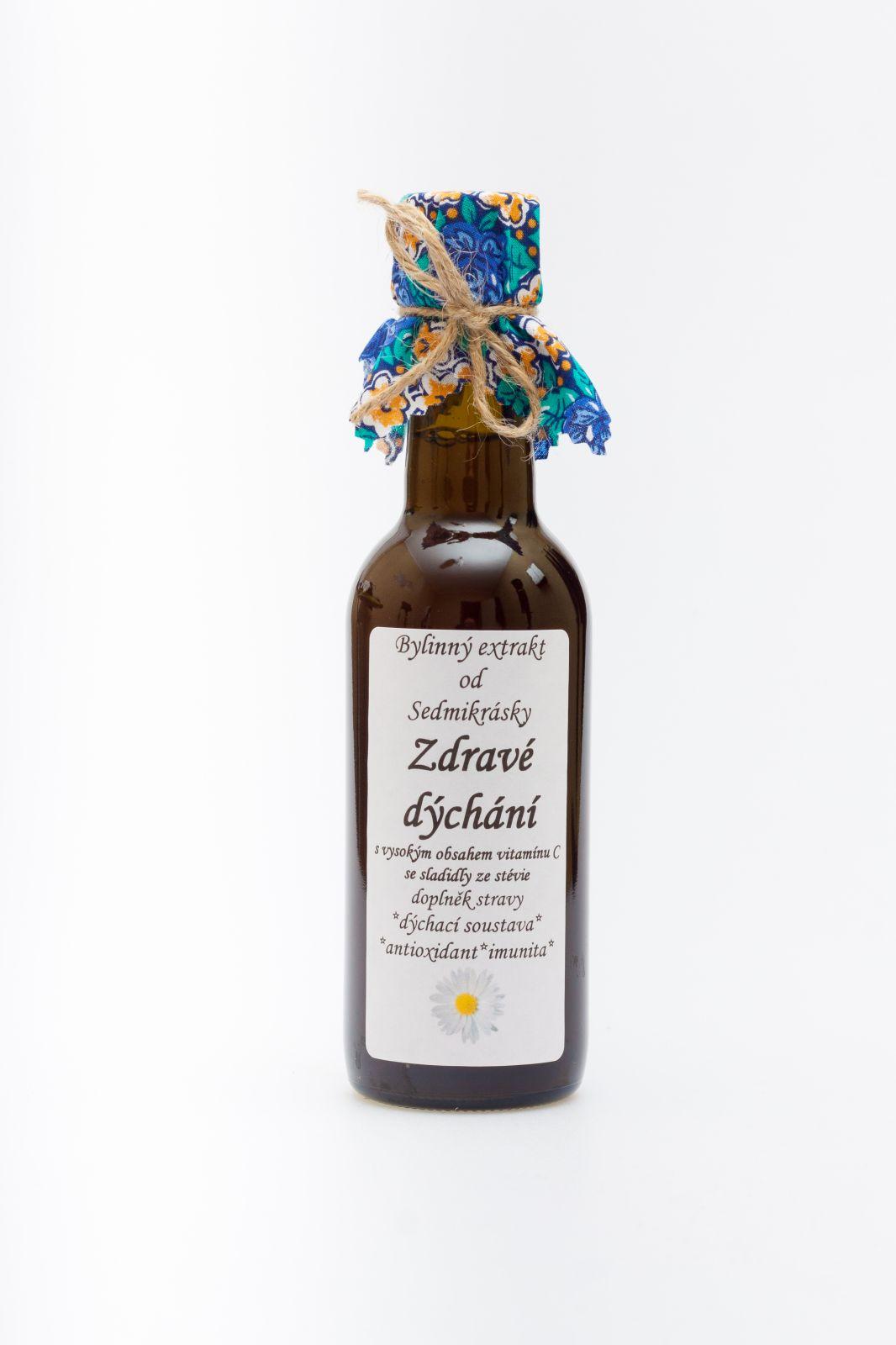 Sedmikráska ekstrakt ziołowy Zdrowe Oddychanie 250ml Rodinná farma Sedmikráska