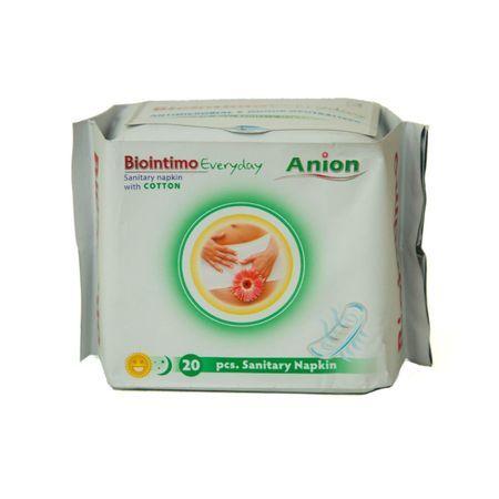 Podpaski higieniczne - wkladki á 20 szt Wkladki hygieniczne z paskiem anionowym BioIntimo Corporation