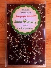 Zelená země Gorzka czekolada z ziarnami konopi 100g BEZ CUKRU