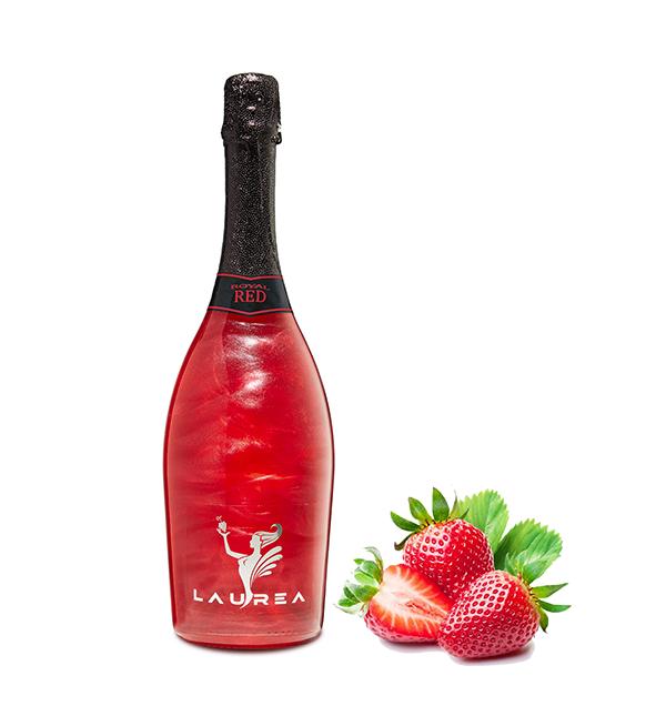 Royal Red dzikie truskawki Royal Red lesné jahody Magic Royal Wine 0,75lt magiczne wino perłowe z bąbelkami Laurea Company sro