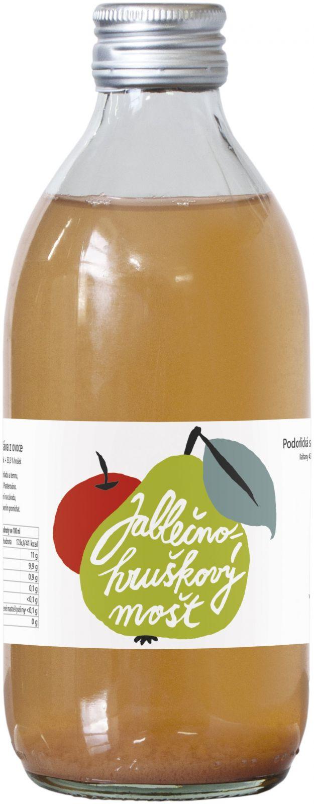 Podorlická sodovkárna mošt 80 % jablko 20 % hruška 0,33 l - Kombinace nejpopulárnějšího moštového ovoce uspokojí každého. Podorlická sodovkárna Rychnov n/ Kněžnou