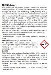 Proszek do prania Trona Color 2,0 kg - uniwersalny bezfosforanowy proszek do prania do kolorowych tkanin Polymer Ukrajina