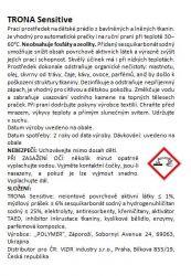 Proszek do prania Trona Sensitive 1,0kg - uniwersalny bezfosforanowy proszek do prania odzieży dziecięcej i delikatnej bielizny Polymer Ukrajina