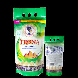 Proszek do prania Trona Universal 1,0kg - bezfosforanowy proszek do prania białych i kolorowych tkanin Polymer Ukrajina
