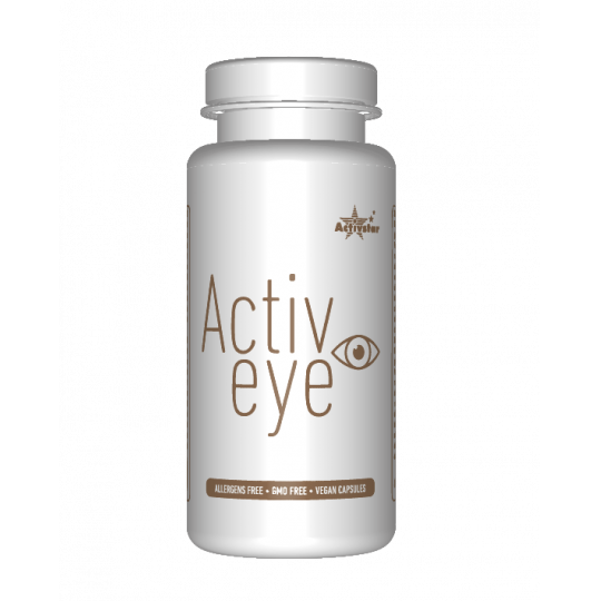ACTIVE EYE 60 CAPSULE Ekstrakt z szafranu o właściwościach zdrowotnych dla oczu, dostarczany w wegetariańskich kapsułkach. Activstar