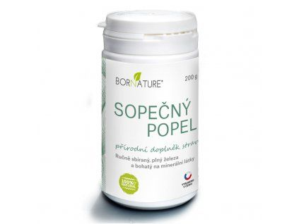 Bornature - Popiół wulkaniczny 200 g bogaty w żelazo i inne minerały to świetny suplement dla osób cierpiących na anemię