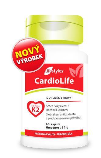 CardioLife 60 kapsułek - Połączenie witaminy K2 (MK7), wyciągu z głogu, witamin B6, B12 i kwasu foliowego - suplement diety Lifestyles
