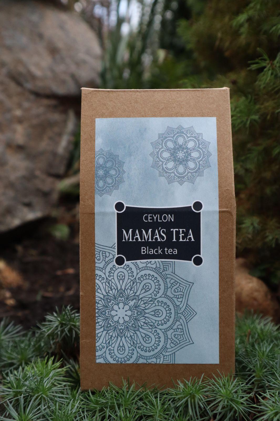 MAMA´S TEA - BLACK TEA - MAMA´S OP BLACK - 100% cejlońska czarna herbata 100 g. Zbierana ręcznie na najlepszych plantacjach herbaty na świecie w Nuwara Eliya.