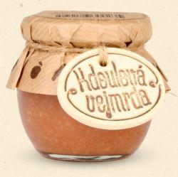 Smak Moraw Quince vejmrda - pod nazwą vejmrda to tradycyjny przysmak z chrzanu, rosołu mięsnego, octu i głównie jabłek, które zastępują pachnące pigwy. 100 gramów