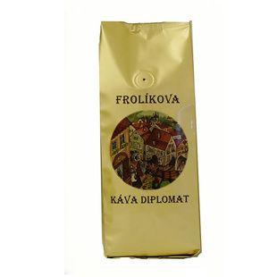Kawa Frolík's Diplomat 500g ziarno To 100% Arabika z Ameryki Środkowej, Południowej i Azji. Jan Frolík - Pražírna kávy